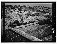 Zanzibar. Looking down on town from roof of ancient Arab palace; Catholic church in distance LOC matpc.07421.jpg
