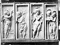 Zenélő angyalok (gipsz másolat). Az eredeti bronz dombormű, Donatello alkotása 1447-1450 között készült. Fortepan 70500.jpg