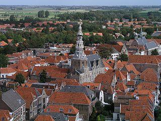 Zierikzee City in Zeeland, Netherlands