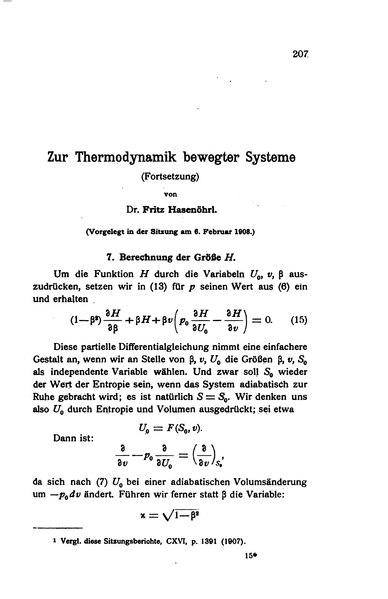 File:Zur Thermodynamik bewegter Systeme (Fortsetzung).djvu