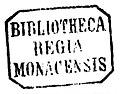 """""""BIBLIOTHECA REGIA MONACENSIS"""" circa 1867 library ink stamp detail, from- Duch od stepu. Przygrawka do nowej poezji (page 6 crop).jpg"""