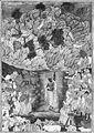 """Krishna Holds Up Mount Govardhan to Shelter the Villagers of Braj"", Folio from a Harivamsa (The Legend of Hari (Krishna)) MET 70694.jpg"