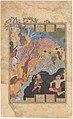 """Rustam Slays the White Div"", Folio from a Shahnama (Book of Kings) MET DP215760.jpg"