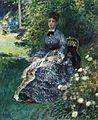 'La tapisserie dans le parc, Camille Monet', painting by Renoir.jpg