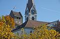 'Schloss' und Reformierte Kirche in Uster, Ansicht vom Schulweg 2012-11-14 13-18-21.JPG