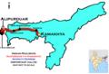 (Alipurduar - Kamakhya) InterCity Express Route map.png