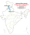 (New Delhi - Jammu Tawi) Rajdhani Express Route map.png