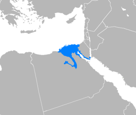 Distribution de l'arabe égyptien.