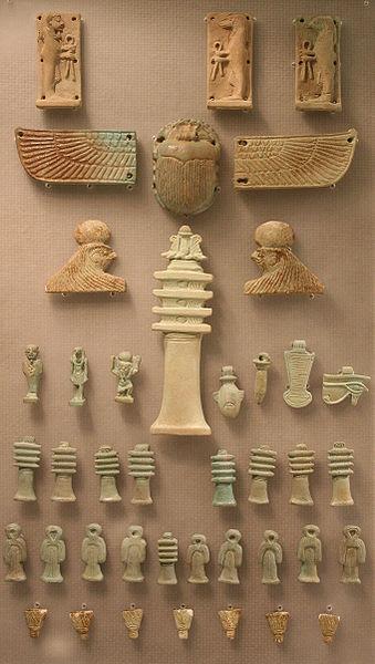 Amulette, Ägyptisches Museum Leipzig