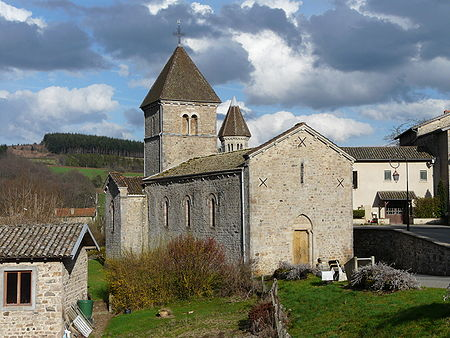 The Church of the french village of Avenas