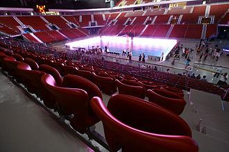 Armeets Arena - The interior of the multi-purpose indoor arena.