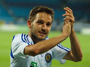 FK Čukarički - Miloš Ninković, here as a player of Dynamo Kyiv, came from the youth school of the club and played three years as professional for Čukarički.