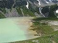 Озеро на границе с Грузией, между г. Чегет и г. Донгузорун, июль 2008 - panoramio.jpg