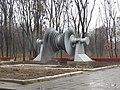 Памятник паровой турбине у завода Турбоатом, Харьков.JPG