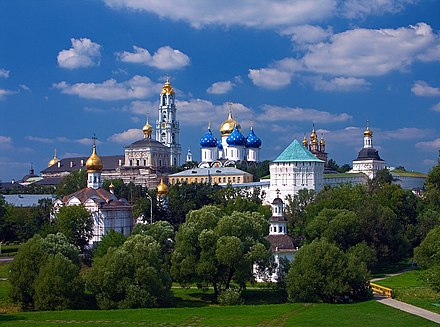 The Trinity Lavra of St. Sergius, spiritual centre of the Russian Orthodox Church and a UNESCO World Heritage site Sergiev Posad. Troitse-Sergieva lavra. 1.jpg