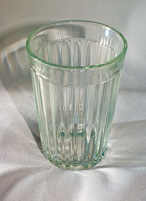 Table-glass - A classic 20-facet Soviet table-glass, produced in the city of Gus-Khrustalny since 1943.