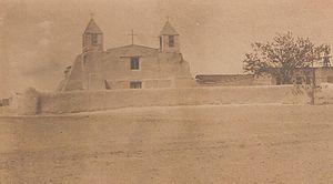 San Agustín de la Isleta Mission - Image: Isleta mission 1900