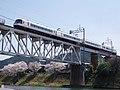 さくらライナー 吉野川橋梁にて Sakura Liner 2013.4.04 - panoramio.jpg