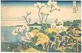 冨嶽三十六景 東海道品川御殿山の不二-Fuji from Gotenyama at Shinagawa on the Tōkaidō (Tōkaidō Shinagawa Gotenyama no Fuji), from the series Thirty-six Views of Mount Fuji (Fugaku sanjūrokkei) MET DP141091.jpg