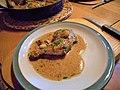 -2015-10-30 Sautéed chicken with forty cloves of garlic, Trimingham (1).JPG
