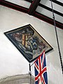 028 Stoke Rochford Ss Andrew & Mary, interior - tower arch funerary hatchment.jpg