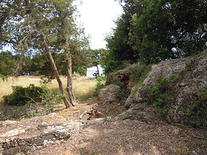 S'Argamassa Roman Fish Farm - Image: 039 The remains of S'Argamassa Roman Fish Farm, Santa Eulalia 21 June 2013