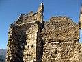067 Castell de Montsoriu, pati d'armes, restes de la torre sud-oest.jpg