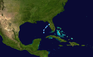 Tropical Depression One (1992) - Image: 1 L 1992 track