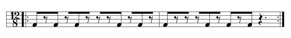 1.5 cross-beats per four main beats
