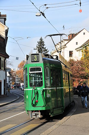 Basler Verkehrs-Betriebe - Tram in year 2011