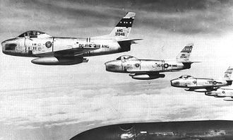113th Wing - 121st FIS 4-ship F-86H formation, 1960.