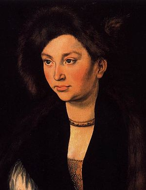 Catherine of Saxony, Archduchess of Austria - Portrait by Lucas Cranach the Elder