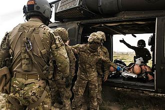 Tactical combat casualty care - Tactical combat casualty care training at Camp Buehring, Kuwait, Feb. 23, 2016.