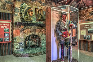 William McIntosh - exhibit at Indian Springs State Park Museum