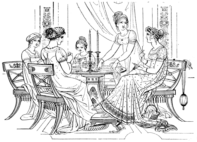 Advanced regency fashion coloring pages | 578x800
