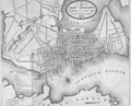 1850 map Portland Maine USA by Colesworthy.png