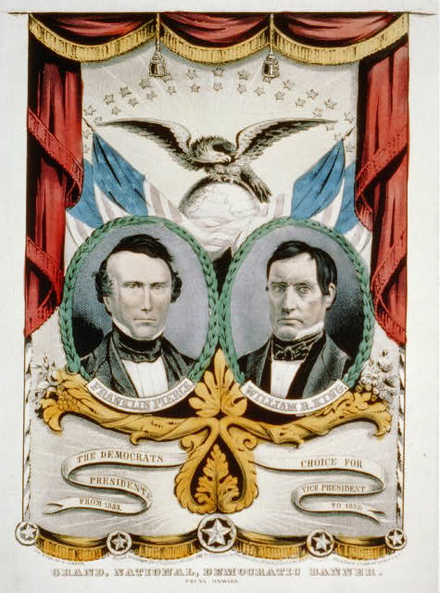 Campaign poster for the Pierce/King ticket 1852DemocraticCampaignPoster.png