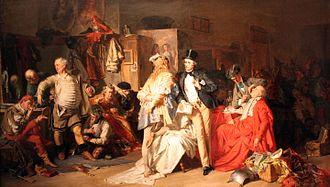 Eduard von Grützner - Behind the scenes, 1870, Germanisches Nationalmuseum