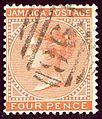 1883issue 4d Jamaica wmkCC F98 SG11a.jpg