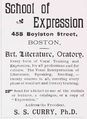 1898 School of Expression Boston ad NewtonMA BlueBook.png