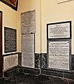 18 June 1815 – Waterloo – St Joseph's Church, Left Aisle, Tablets 5 to 10.jpg