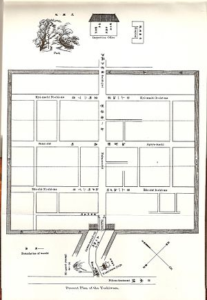 Yoshiwara - Layout as of 1905.