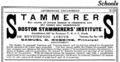 1916 Boston Stammerers Institute advert.png