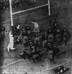 1922 college football season - Image of pivotal play in Princeton–Chicago game