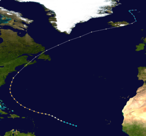 1927 Atlantic hurricane season - Image: 1927 Atlantic hurricane 1 track