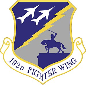 192nd Fighter Wing - Image: 192d Fighter Wing shield