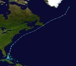 1937 Atlantika tropika ŝtormo 8 track.png