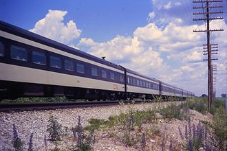 Rapido (train) - A CN Rapido service at Pickering, Ontario in July 1968.