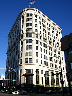 The Sheridan Trust and Savings Bank Building, on the corner of Broadway and Lawrence since 1924, has Chicago Landmark status.