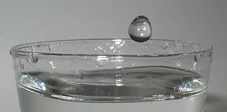 Properties of water - Image: 2006 02 13 Drop before impact